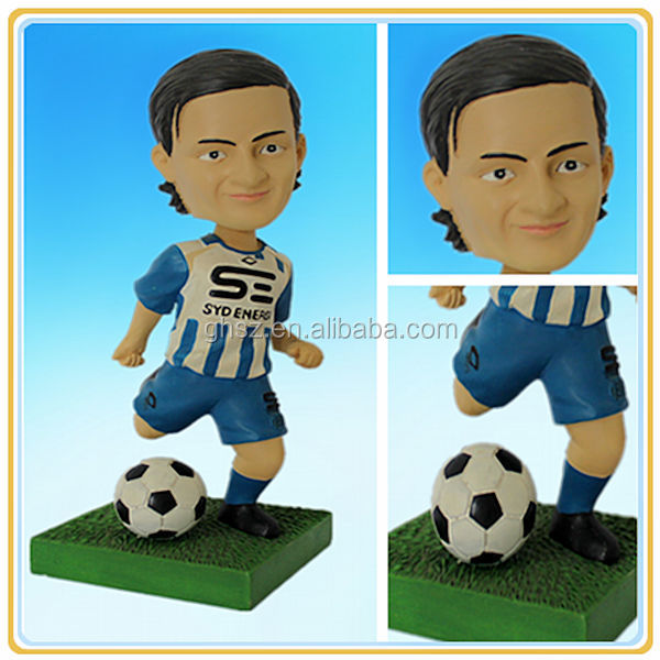 Plastic football player figurines, football/soccer player action figure, world cup 2014 football player figurines