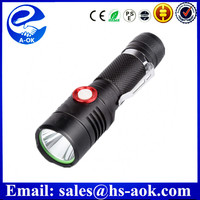 New Practical 2000 Lumens High Power LED Torch XML L2 LED USB Rechargeable Tactical Flashlight
