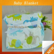 Super soft and loverly coral fleece for baby blanket elephant design cotton baby fleece blanket Lyd-1018