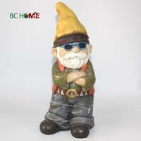 2015 new design decoration resin ceramic garden gnome