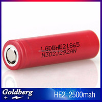 3.6v Nominal Voltage and Li-Ion Type 20a high drain lg he2 18650 battery