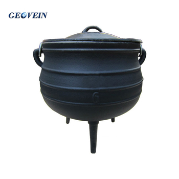 South African Cast iron Cauldron pot, Cast iron potjie