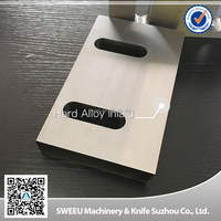 Hard alloy inlaid crusher plastic film cutting knife/blade