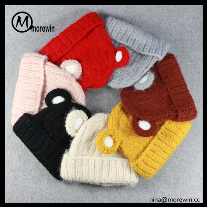 Morewin Brand 100% Cotton Animal Bear Fancy Baby Winter Hats