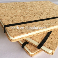 Gift Present Natural Cork Leather Notebook
