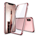 electroplate case for iphone x, tpu electroplated phone case for iphone X