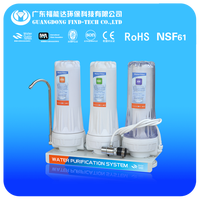Home Countertop 3 stage easy pure water filter purifier
