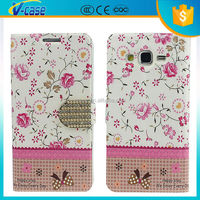 Flower Design cute girl cell phone case Flip Phone Case Cover for iphone 6
