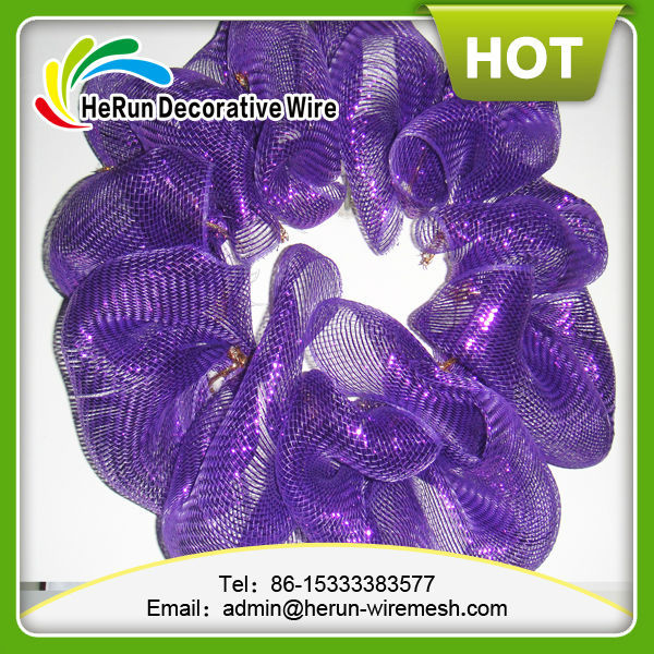 HR factory supplies Christmas poly deco mesh for decorative flowe &wreaths