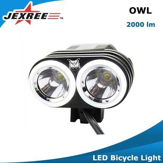 Jexree outdoor high quality 3 XM-L 2 Leds waterproof Bycicle/bike led light