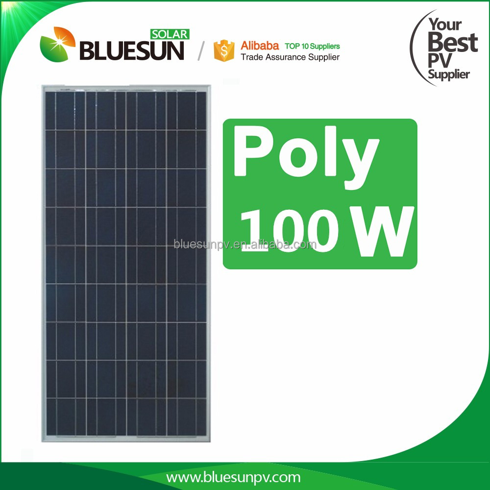 China best pv supplier high quality cis solar panels mono 100w 12v