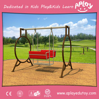 Children outside metal play structure equipment outdoor kids playground playhouse swing set