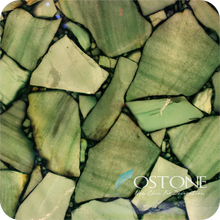 China Gemstone Company Green Semi Precious Stone Tile Gem
