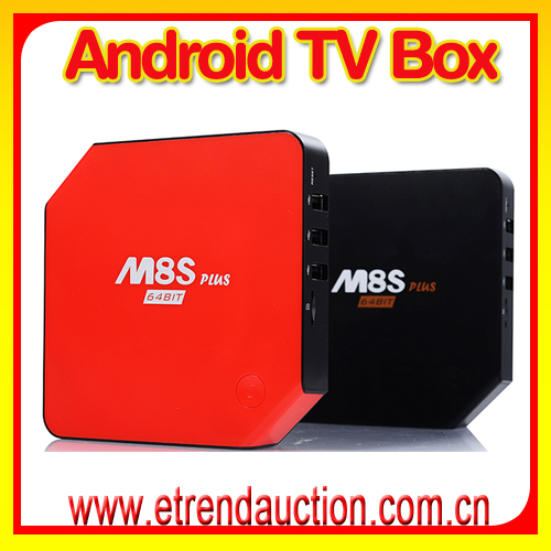 S905 M8SPlus Quad core with LED display Time iptv box asian channels google android 5.1 ott tv box