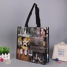 Laminated Printing 140GSM Pp Woven Shopping Bag Grocery Tote Bag For Bottles And Cans