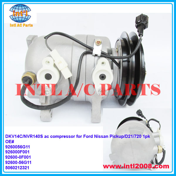DKV14C/NVR140S ac compressor for Nissan Pickup/D21/720/Ford CO 2511Z 58444 9260056G11 926000F001 92600-0F001 92600-56G11 1pk new