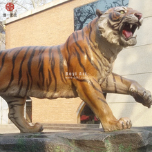 Giant Mostra All'aperto Resina Animale Tiger Statue