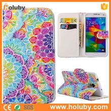 Flip Stand PU Leather Case for Samsung Galaxy S5 I9600 G900, Wallet Case for Samsung Galaxy S5 I9600 G900