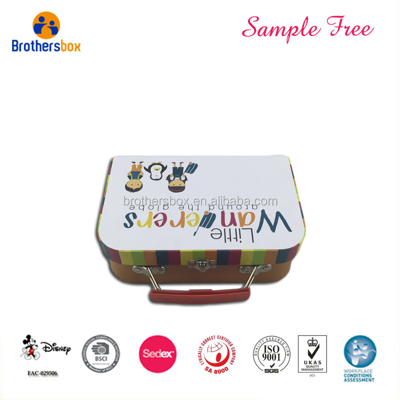 Custom Printing Cardboard Suitcase Box For School
