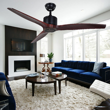 Guzhen Light Market Decorative Remote Control 3 Wood Blades Ceiling Fan