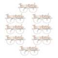 8pcs novelty team bride bachelorette party glasses