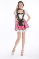 ZY495 Pink Fantasy German Girl Dress S-2XL stock oktoberfest costume