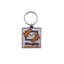 Best promotion small gift soft pvc key chain ring custom logo wholesale