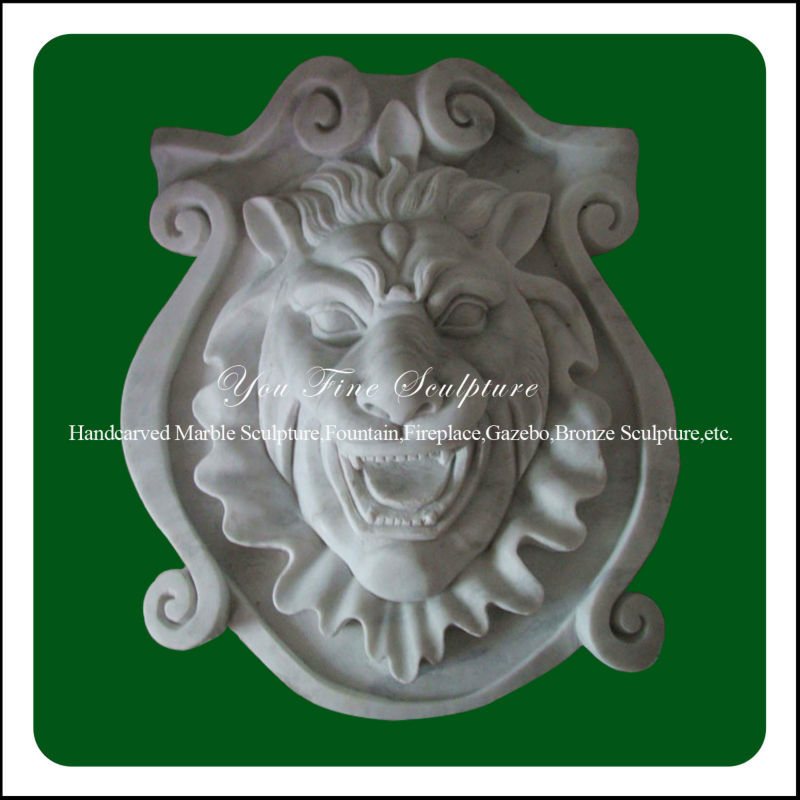 Hand Carved Decorative Marble Relief Wall Art For Sale