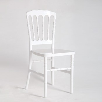 PC Resin Knock-down In White Color Napoleon Chairs