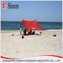 Best selling lycra fabric sand bag beach shade tent products