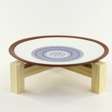 Terracotta Stoneware Ceramic Deep Dinner <strong>Plate</strong> With Customized Logo Dish