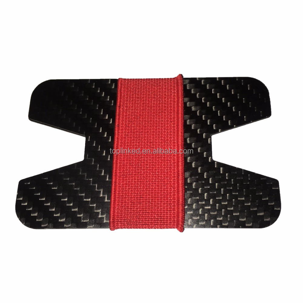 mens slim wallet for sale carbon fiber wallet with elastic money band fabric