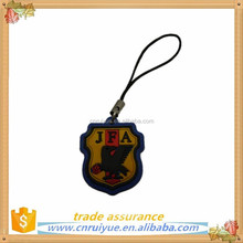 personalized soft pvc cell phone charms, mobile phone pendants straps