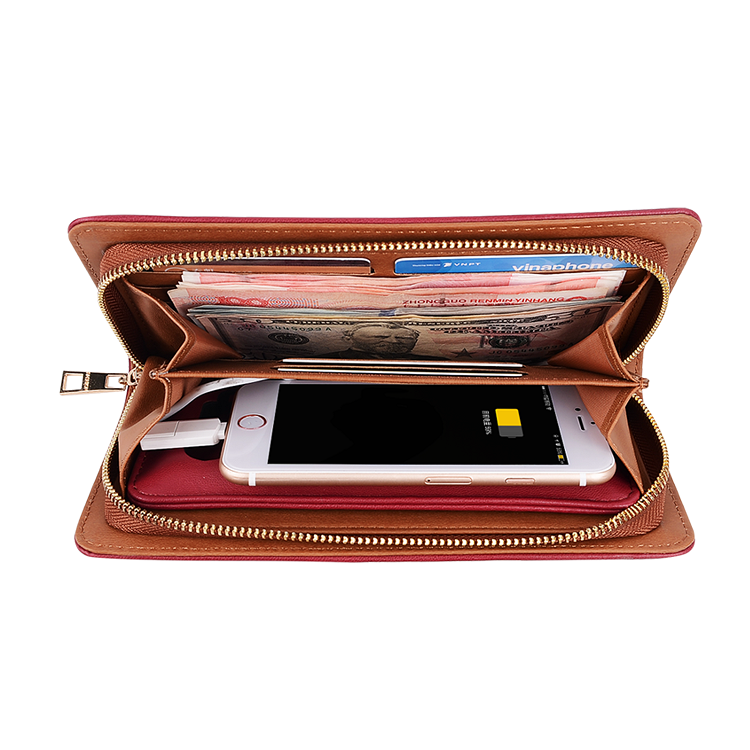 Fashion GPS Smart Portable Bluetooth Tracking Alarm Leather Mens Wallet
