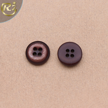 N-1317 Popular Brown 4 Hole Transparent Resin Shirt On Sale Wholesale Sewing Button