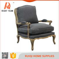 Antique style single seater wood living room sofa chairs&antique armest living room chairs