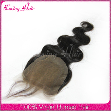 Best selling brazilian 3 way part closure huge stock body wave cheap 3 part silk base lace closure