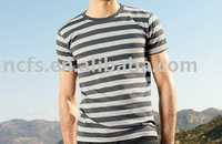 Y/D Stripe Round Neck Fashion T-shirt