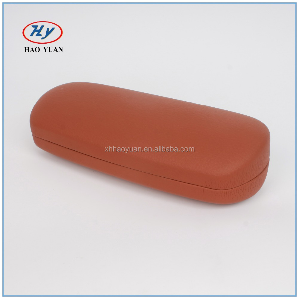 China Leather Glasses Case Manufacturers Blue Hard Optical Eye Glass Case