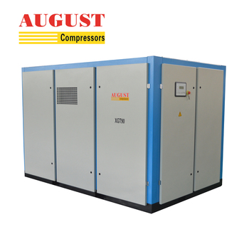 AUGUST 90KW 122HP Double Stage Compression screw air compressor