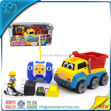 4 Channel RC Cartoon Car 4WD Tractor 4WD Truck 4WD Toy Car Mini 4WD Track For Kids 4WD Accessories For Boys 4WD Tractor With Box