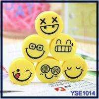 Factory directly cute korean stationery rubber eraser for pen eraser with smile shapes