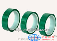 teflon adhesive tape excellent heat resistance Green 2.7 mil Polyester Elastic Tape For Powder Coating