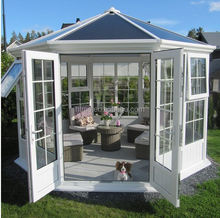 Fashion Design Aluminum Glass House/Sunroom with Double Glazing Glass