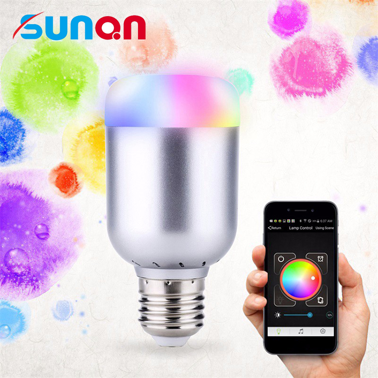 Smart LED Light <strong>Bulb</strong> Bluetooth App Controlled Magic Color Changing E27/E22 Base Led <strong>Bulb</strong>
