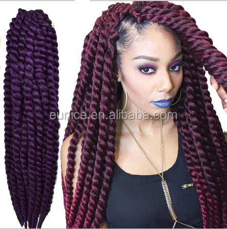 Hot!!!! Synthetic Crochet Braids Hair,Purple Havana Mambo Twist 12 ...