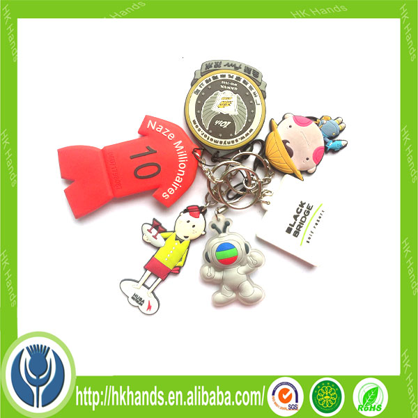 3D low price promotion items soft pvc keychain