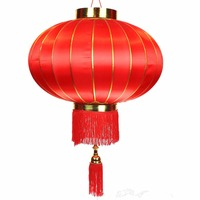 Outdoor Personalized Chinese Silk Red Lanterns