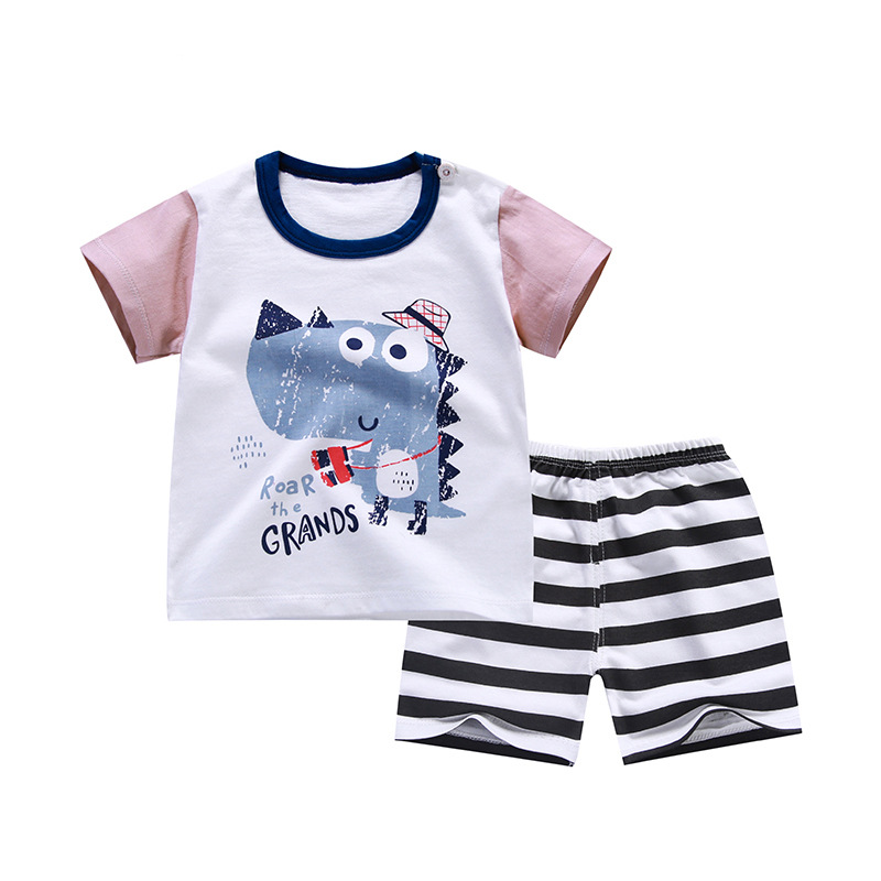 Summer baby boys clothing set toddler children sport suit set 2Pcs beach suit kids boys summer set