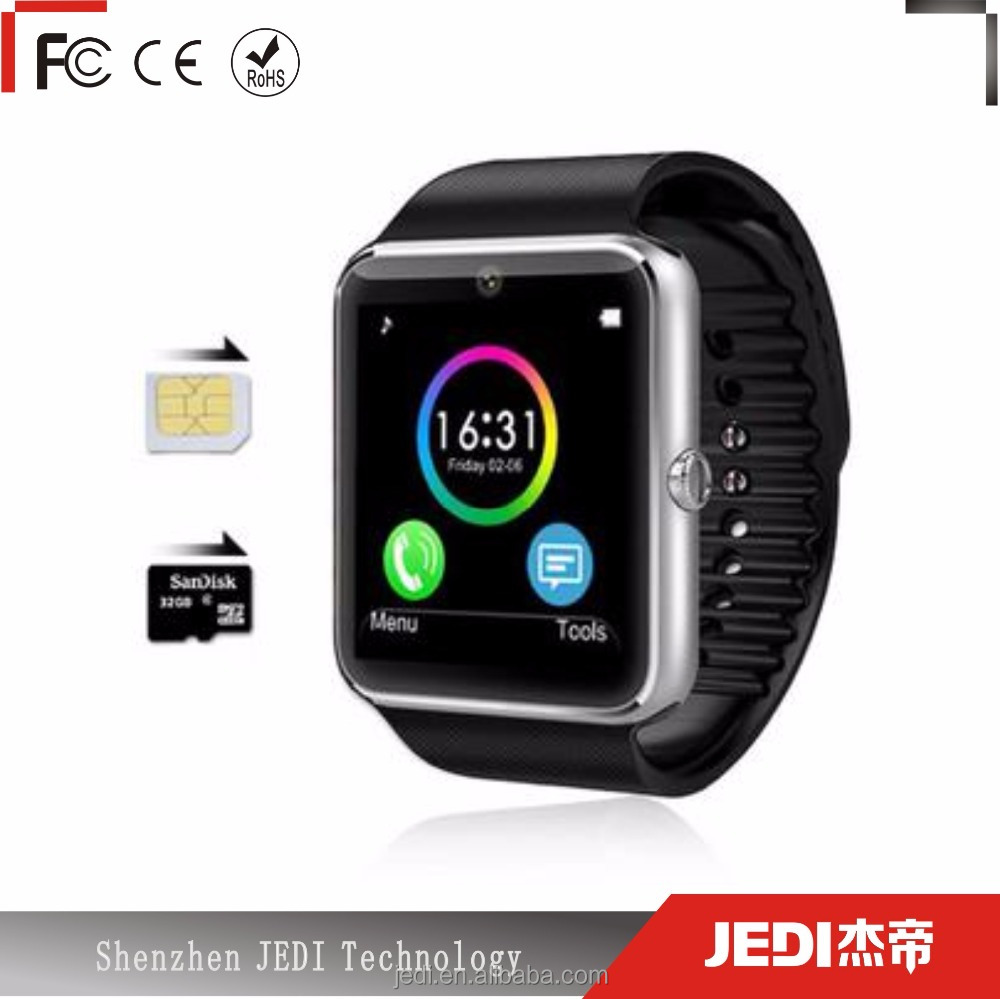 Fast delivery smartphone gt08 smartwatch with bluetooth and <strong>gsm</strong> OL067